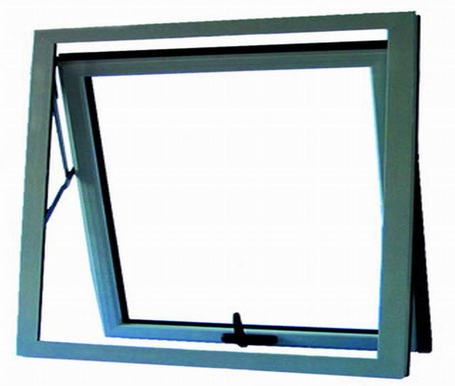 French Style Glass Toilet Frosted Glass Single Aluminum Awning Window