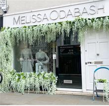 F-1392 Wholesale Wedding Artificial Window Show Hanging White Wisteria Flower Grape Vine