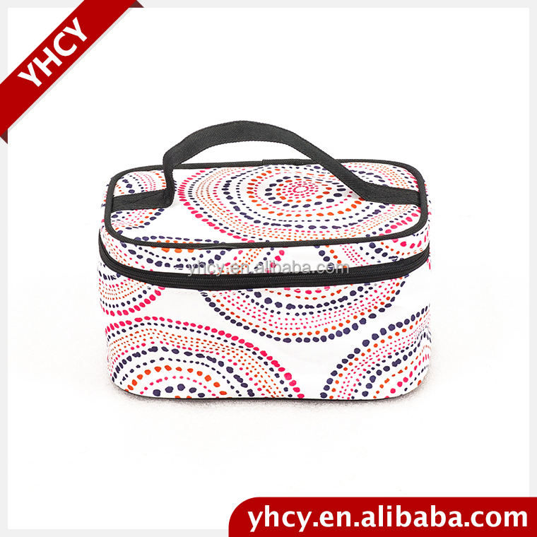 Wholesale china merchandise chevron cosmetic bag
