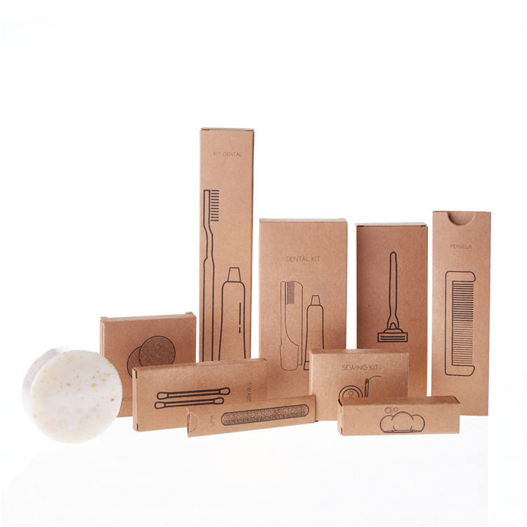 Custom organic eco friendly biodegradable hotel bathroom amenities set