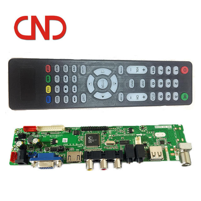 universal Full HD V59 LCD Analog tv main board with TV AV HDMI USB