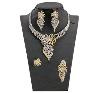 Wholesale Factory Manufacturer Nigeria wedding party blossom bridal jewelry set