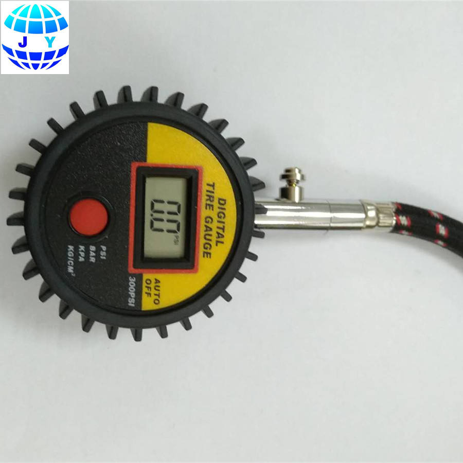 tire pressure gauge with hose and chuck