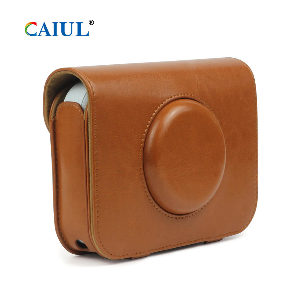 Classical Brown PU Leather Case for LG PC389 Pocket Photo Snap Printer