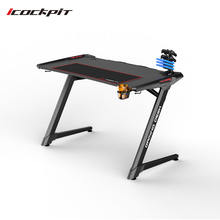 Factory price game desk with USB and commercial furniture gaming desktop table