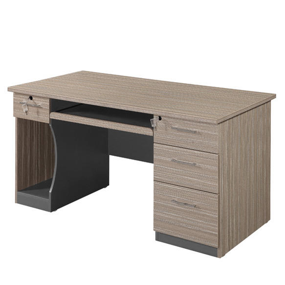 Melamine laminated wooden computer desk table for office and home
