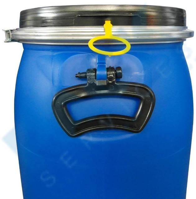 55 gallon/200 liter blue plastic pail with small open top for water /seafood HDPE