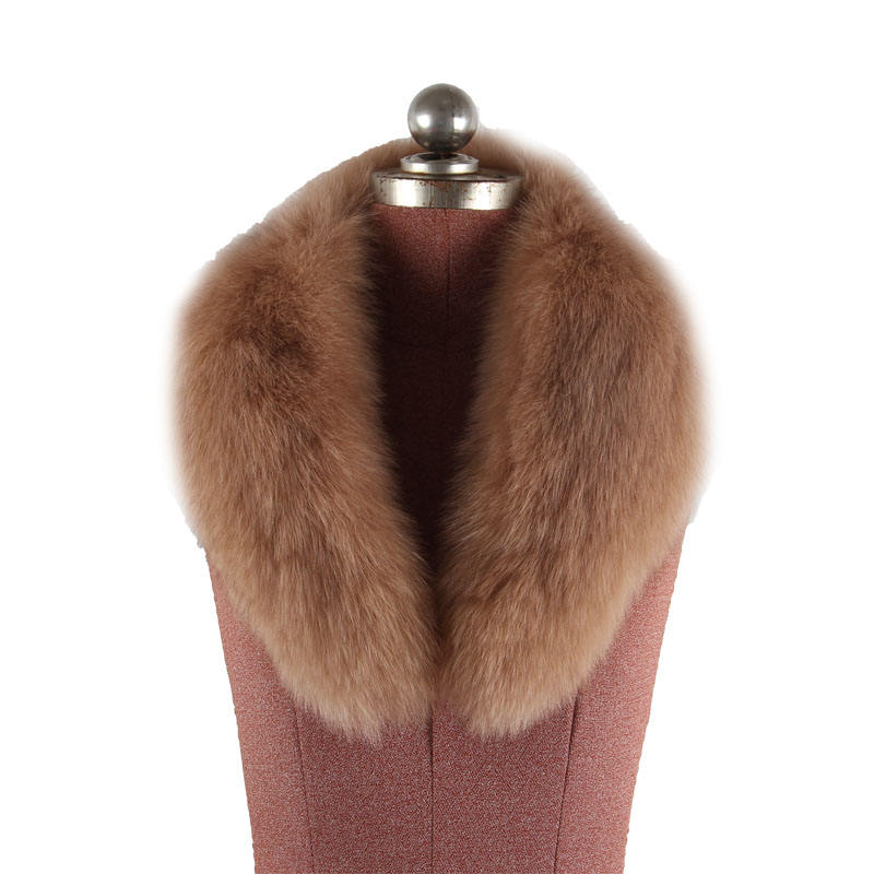 New winter women's and men's coat fur collar fuzzy warm scarf made of faux fur with artificial fox and fur raccoon shawl