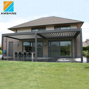 Fabrikant direct supply waterdichte elektrische intrekbare pergola dak cover systeem