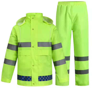 Wholesale Mens Hi Vis Fluorescent safety rains wear