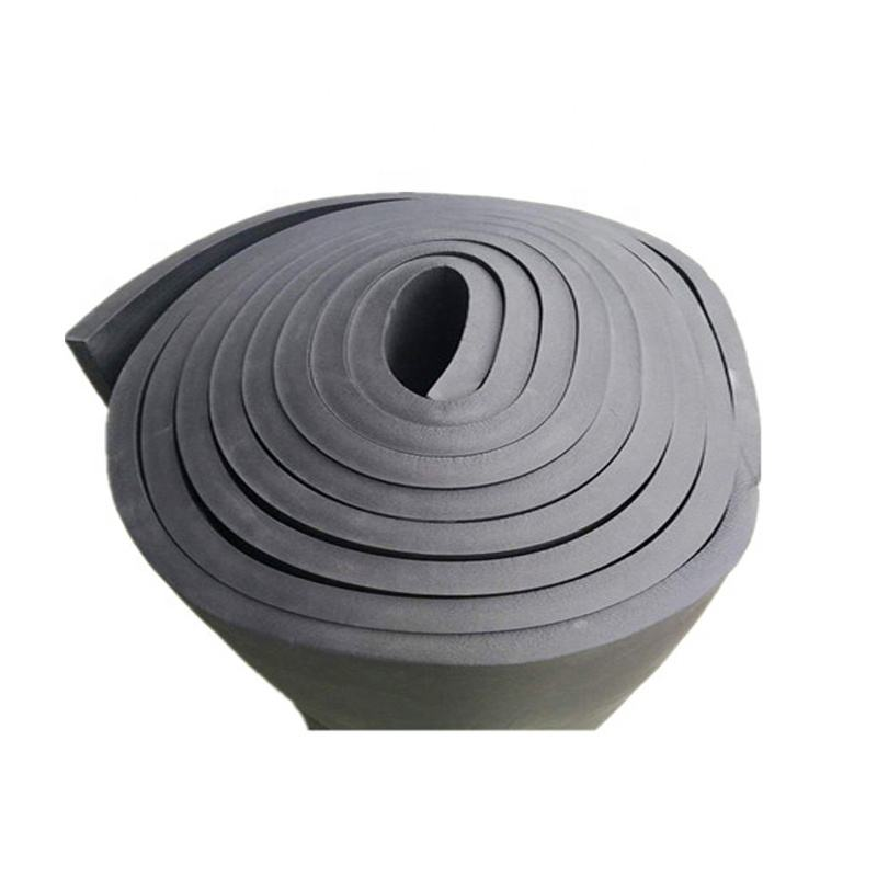 China supplier vinyl nitrile NBR PVC closed cell thermal insulation rubber foam roll vibration reducing foam