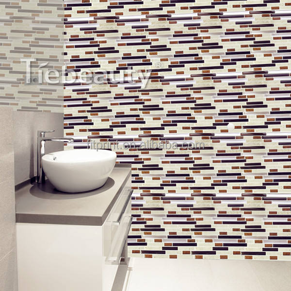 12'' self-adhesive wall tile sticker removable wall kitchen tile stickers 3m wall sticker