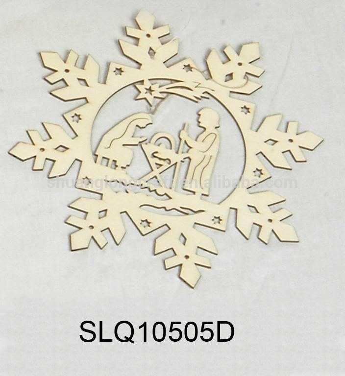 Décoration de métier en <span class=keywords><strong>bois</strong></span> sculpté décorations de noël flocon de neige, décoration de mariage