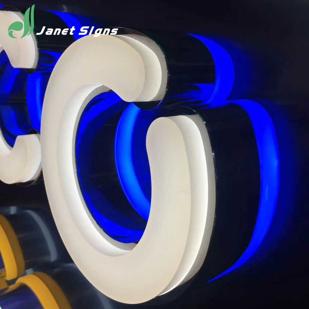 acrylic sign board alphabet letters plastic acrylic stainless steel alphabet letter with led light