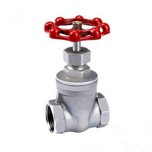 2 Stainless Steel CF8M PN16 Gear Operate NPT Screwed Gate Valve With Pricestainless steel