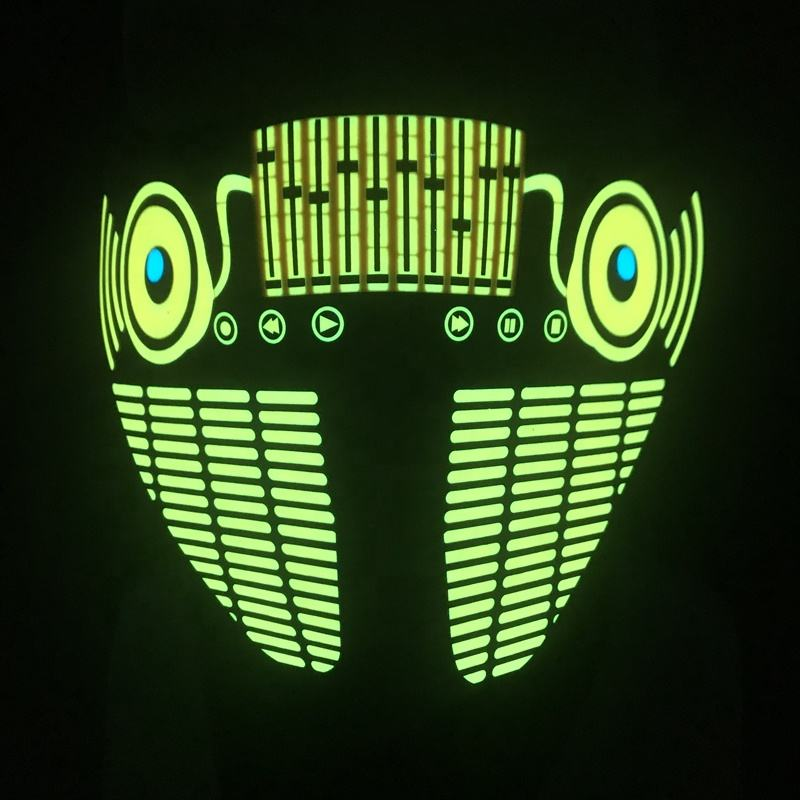 El Mask DJ Rave Festival Halloween Costume Handmade Light Up MASK