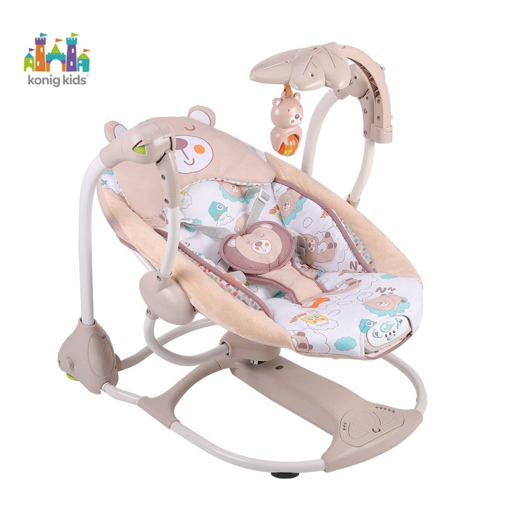 Konig Kids Hot Sale Strollers Babies Rocking Chair Electric Soft Vibrating Swing Baby Bouncer