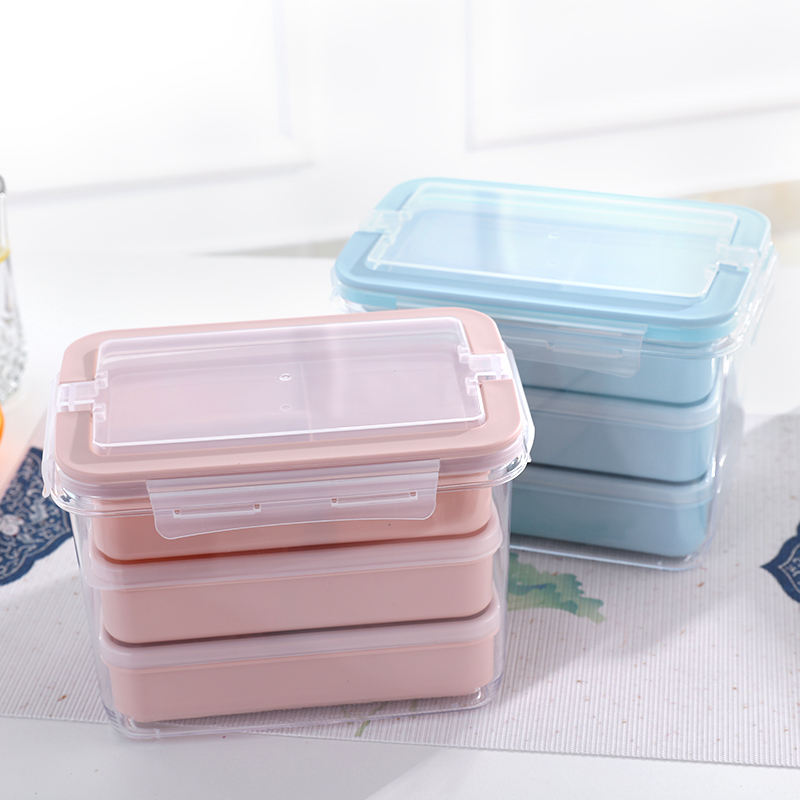 China suppliers Colorful 3 compartment Microwave Plastic Food Containers Bento Lunch Box Food packing box for Kids