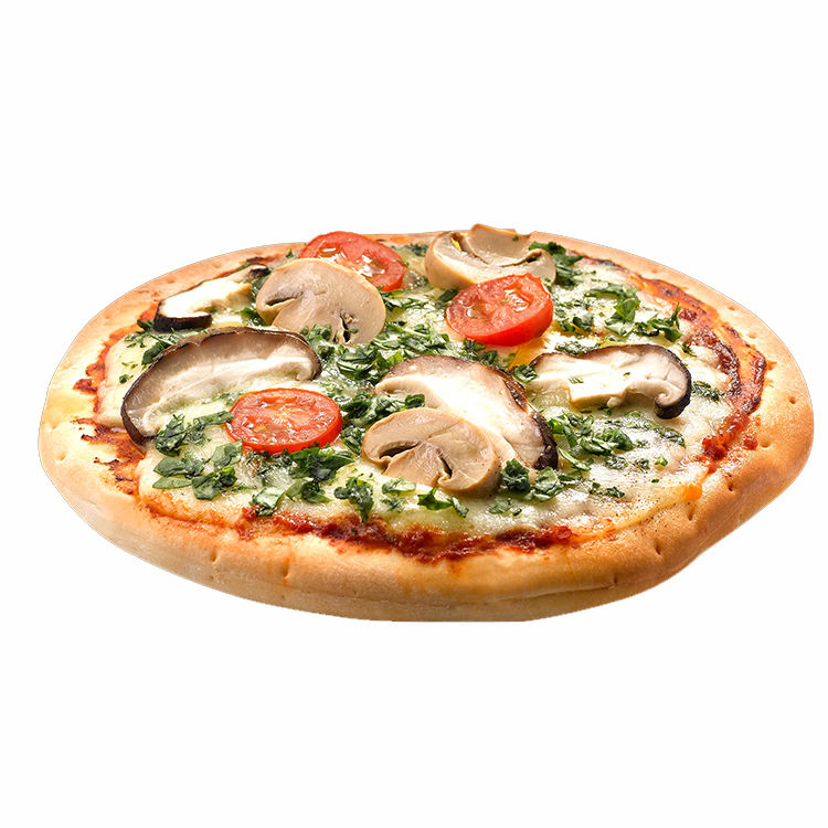 Top Quality Cheap Frozen Singapore Vegetable Mushroom Spinach Round Pizza