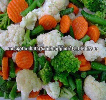 брокколи+ цветная капуса + морковь + картошка+ сладкая кукуруза = более три вида замороженные овощи смеси