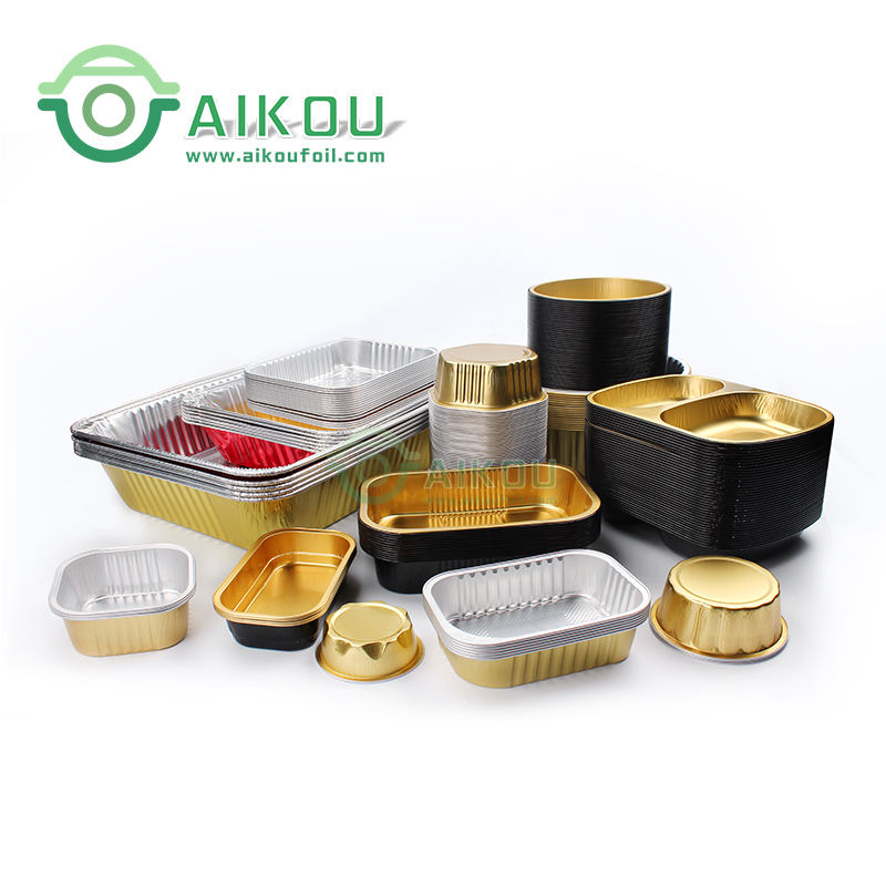 disposable 9 inch round 9 x 13 square smooth wall container roasting dishes bake king tray aluminum baking pan