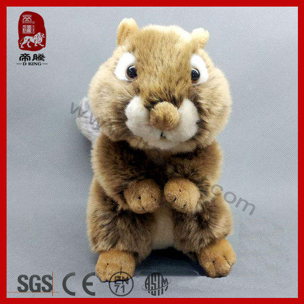 High quality real wild animal stuffed soft plush toy squirrel