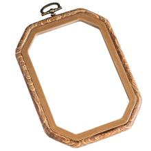 High Quality Wholesale Cross Stitch Accessory plastic Round Wooden Pattern Frame Flexible Embroidery Hoops