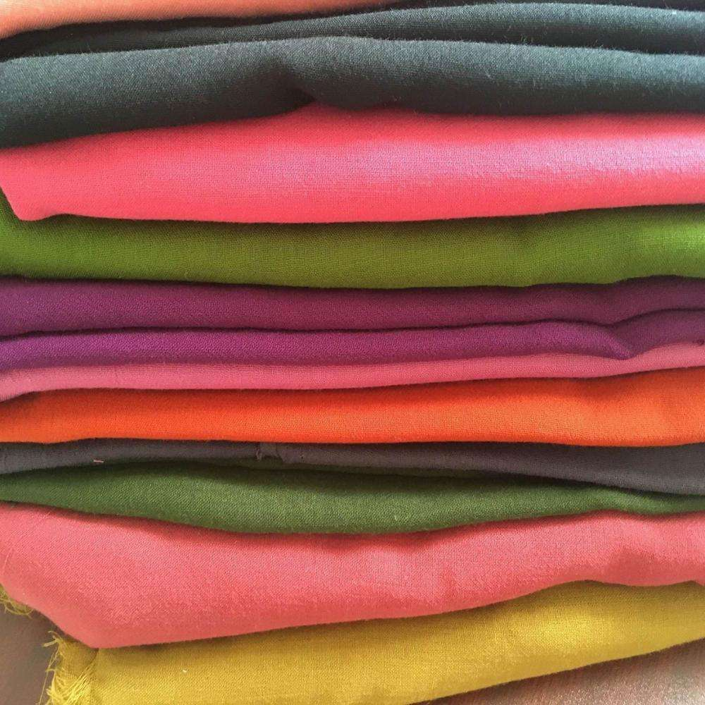 combed Polyester Spun Voile fabric for making scarf/polyester high quality cotton like voile /70GSM combed polyester spun voile