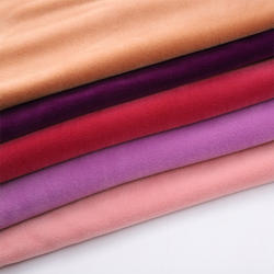 soft touch and breathable polyester warp knit fabric for baby blanket