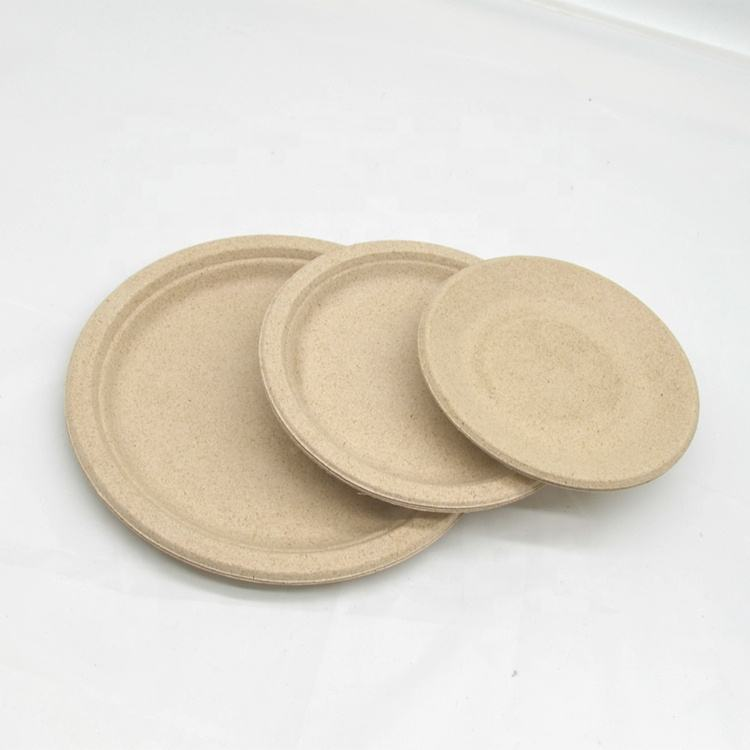 disposable paper plate compostable sugarcane fiber plate