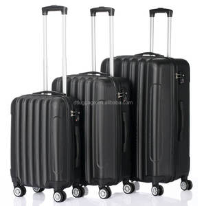 24inch elegant polo ABS durable 3pcs travel luggage set