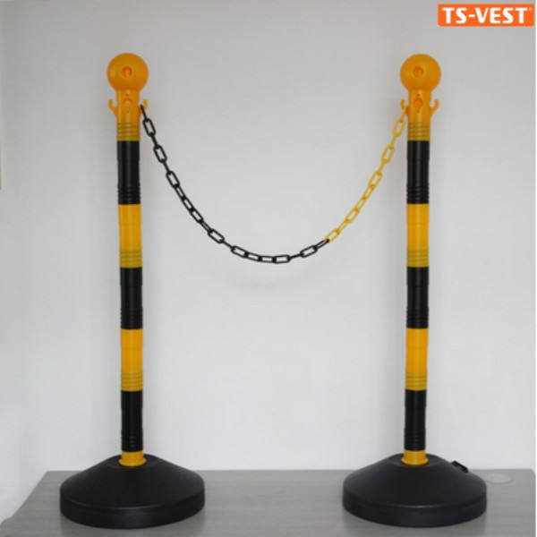 Safety Products Parking Lot Reflective Road Plastic Chain Barriers Post