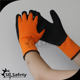 SRSAFETY orange thermal fleece liner gloves palm coated rubber gloves winter working glove