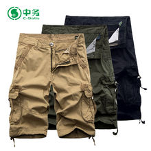 High Quality Summer Six Pockets 100% Cotton Half Short Pants for Men