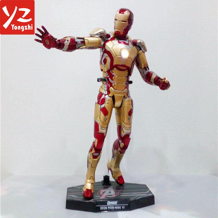 Oro color Marvel movible figura de acción plástica para el Recuerdo