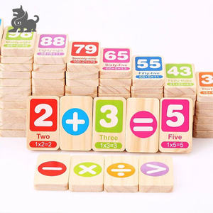 Baby Brain Development Play Toy wood domino game set Educational wooden dominoes