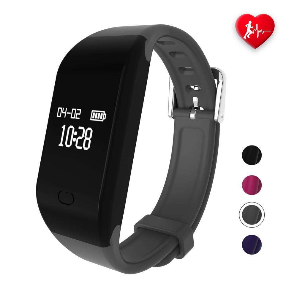 waterproof bluetooth fitness tracker watch smart calorie counter with heart rate monitor