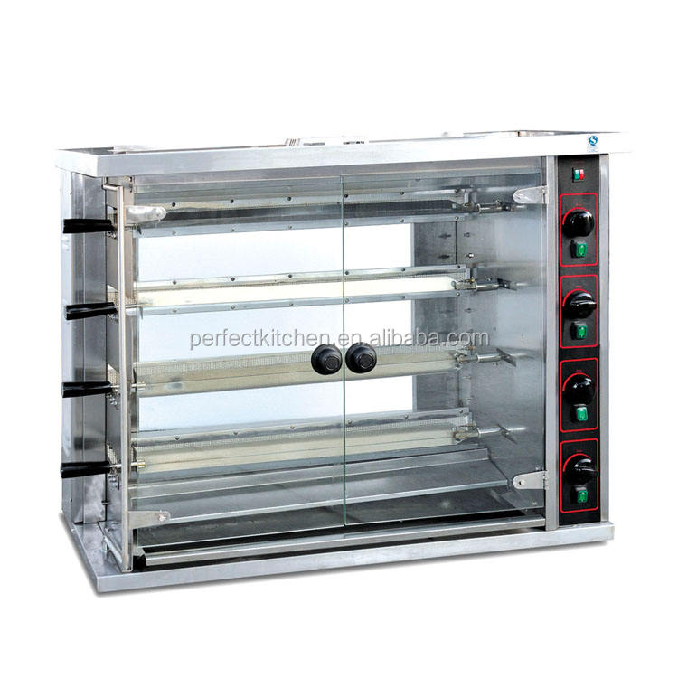 4 Layers Commercial Automatic gas LPG chicken Rotisserie
