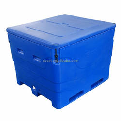 1000L large capacity rotational molding fish cooler box fish container