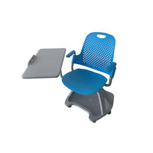 Interactive School Study Furniture Training Folding Chair Armchair With Writing Pad Chair