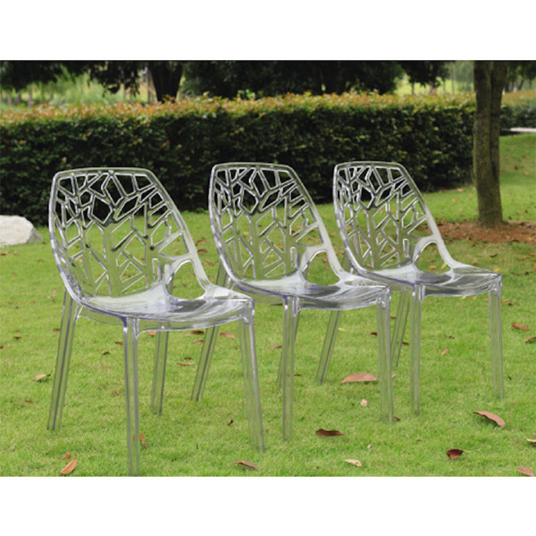 New design clear dinning chair acrylic clear chair