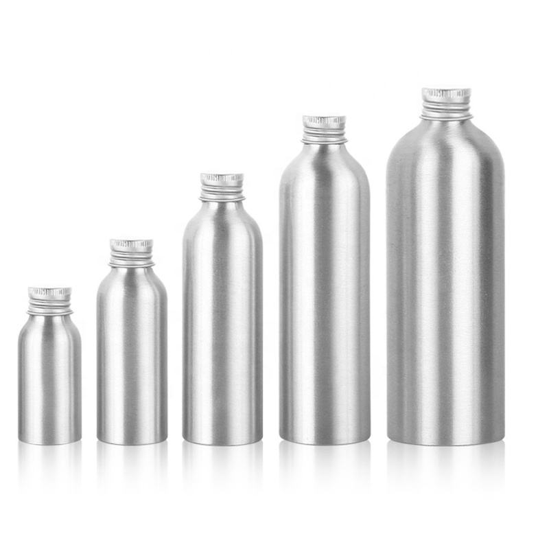 empty 30ml 50ml 100ml 120ml 150ml 250ml 500ml Aluminium bottle with aluminium cap