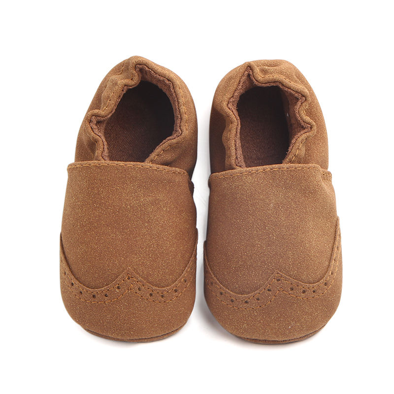 Hot selling soft suede baby moccasins newborn baby booties
