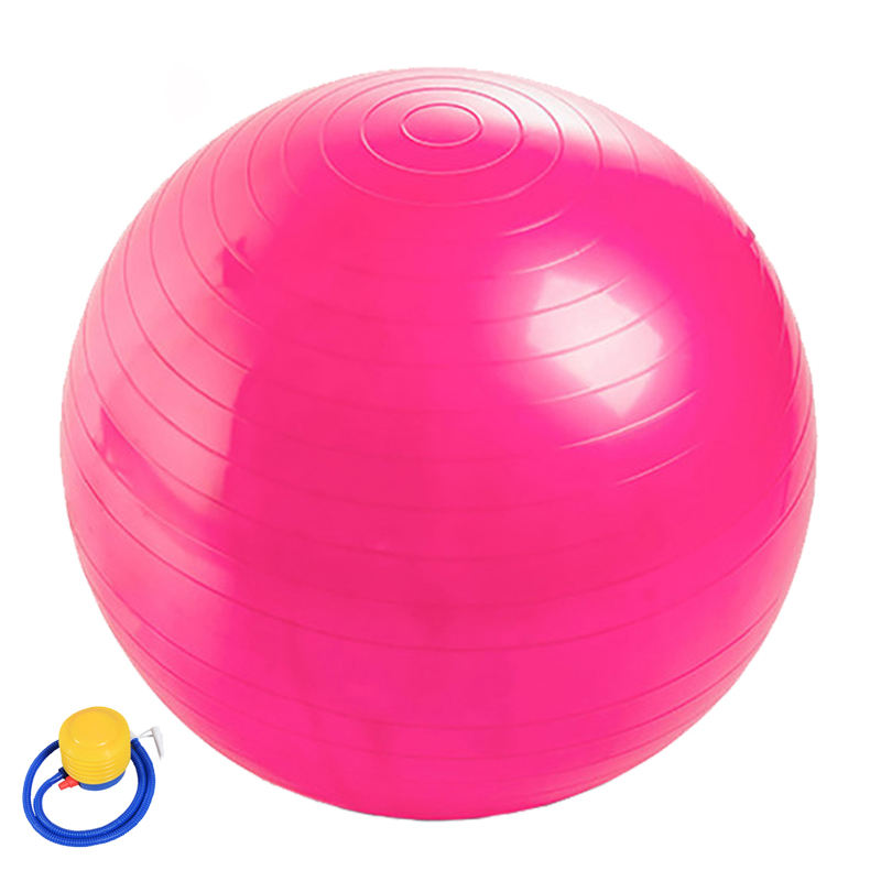 Cina Pilates Yoga PVC Spike Anti Burst 100 cm Gym Ball con Pompa A Pedale