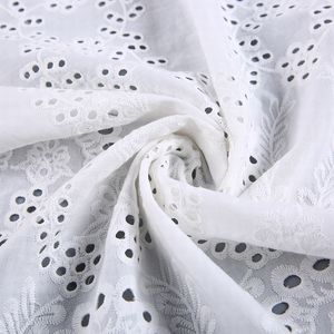 New products wholesale embroidery design net white voile soft cotton fabric roll