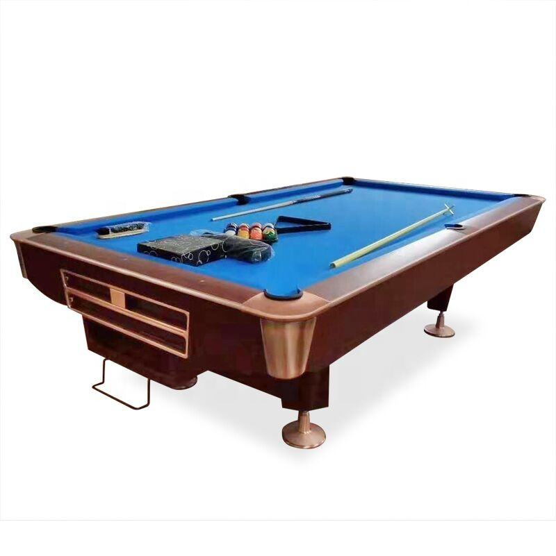 Professional 9FT French pool table slate bed solid wood 9 ball billiard table