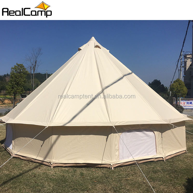 Realcamp Round Camping 100% waterproof fire retardant Bell Tent/Tipi Tent/Empreor Tent