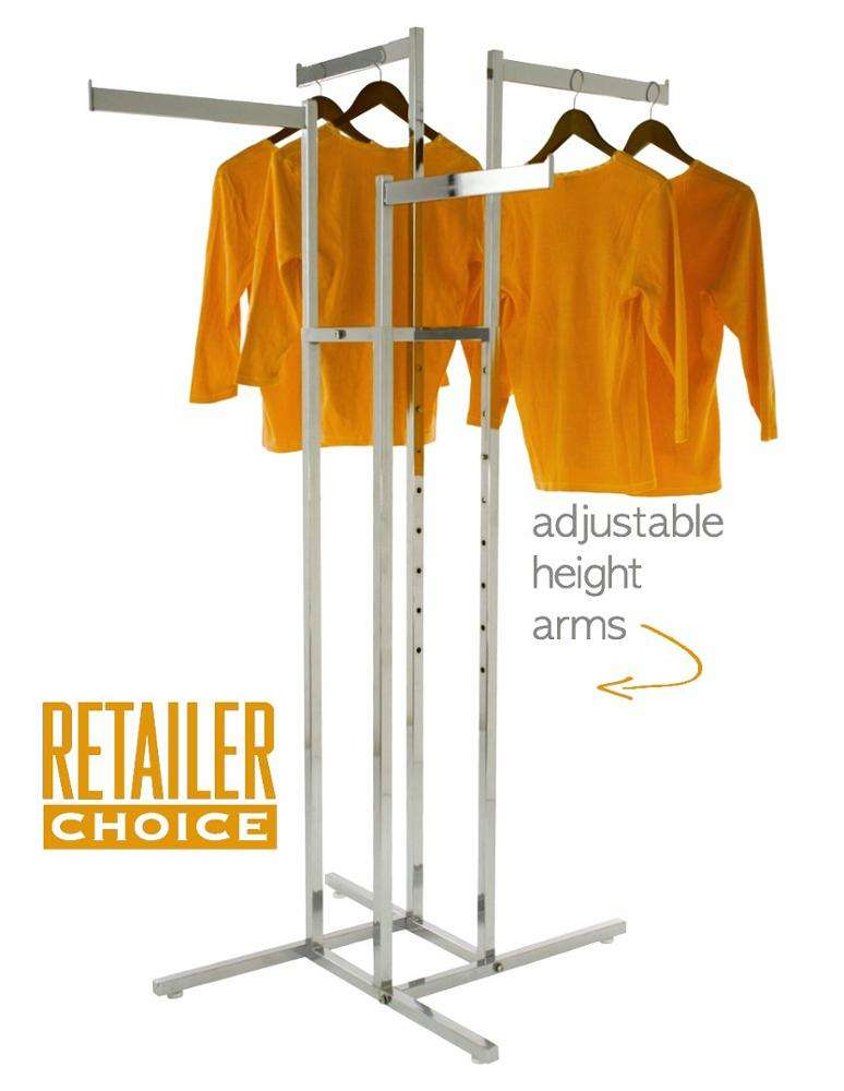Creative Blade Arms Art Rack Free Standing Hanging Clothing Display Unit 4ウェイラックDresses Rack