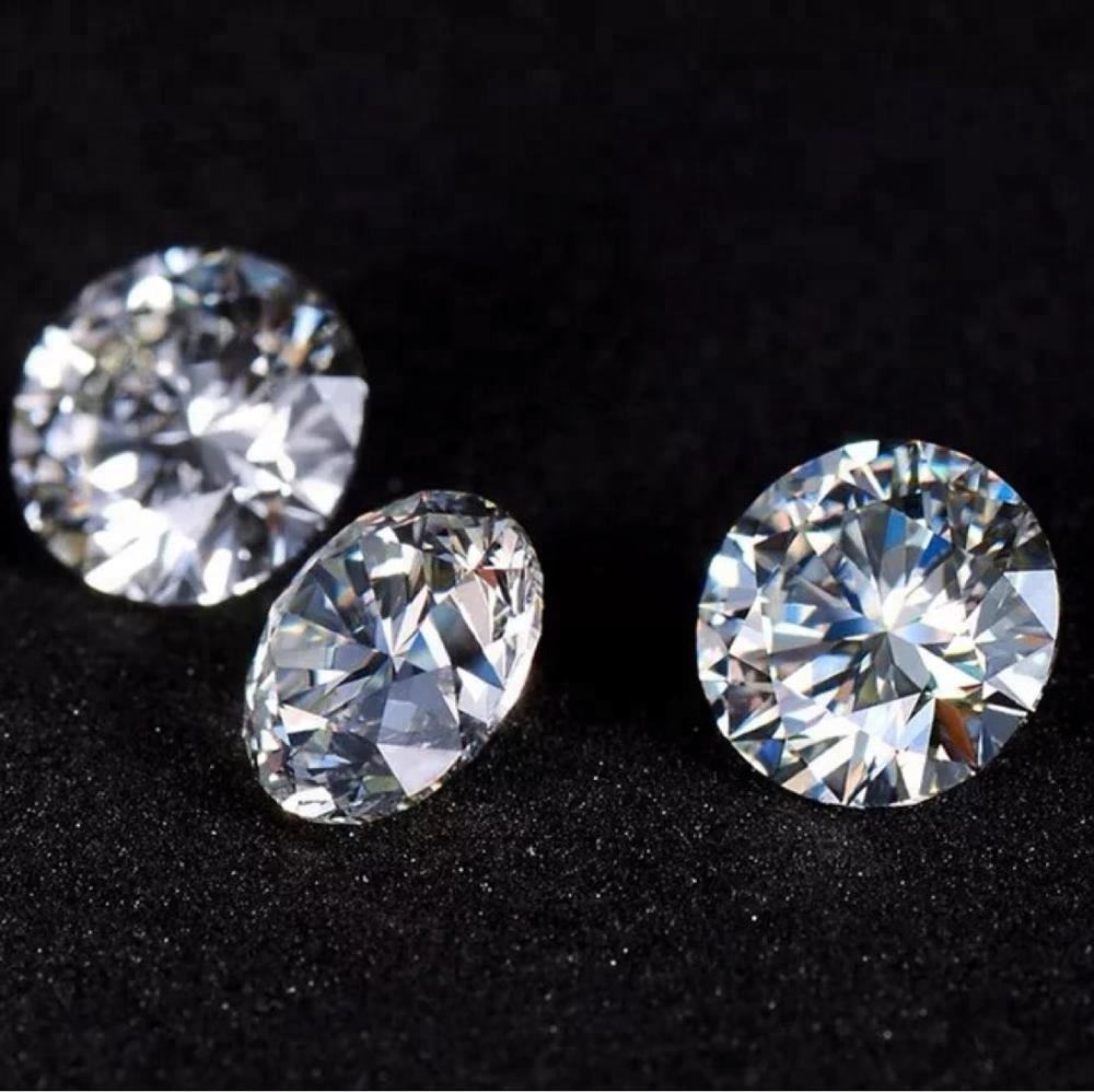2.8mm 0.08carat Round zircon loose gemstone white small bare drill synthetic cubic zirconia