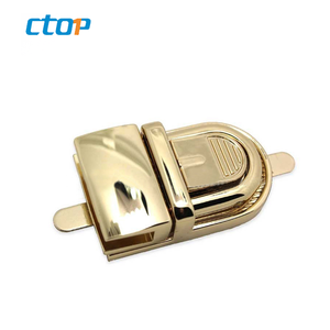 Classical bag hardware gold metal briefcase clasps high quality handbag lock bag lock handbags lock hardware